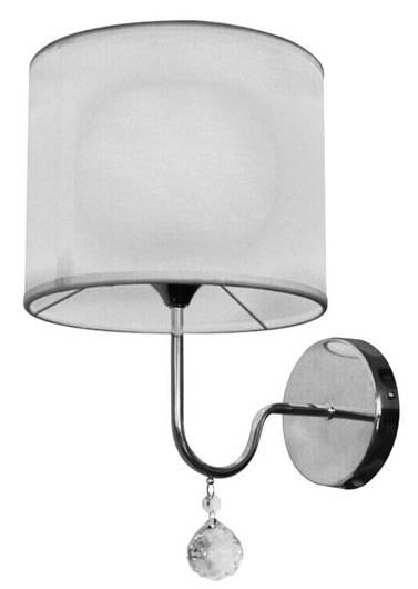 Lampa ścienna kinkiet 1X60W E27 biały BRAVA 21-23230