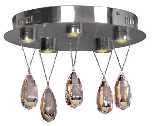 Lampa sufitowa chromowa LED z kryształkami 5x3W Prisma Candellux 98-25722