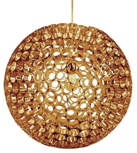 Lampa sufitowa miedziana kula z metalowych rurek E27 Abros Candellux 31-09074