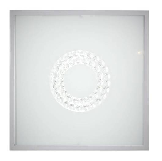 Lampa sufitowa plafon 29X29 16W LED 6500K satyna ring LUX 10-60686