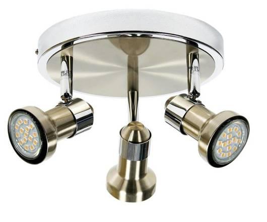 Lampa sufitowa plafon 3X50W GU10 sat nikiel-chrom ARKON 98-60051