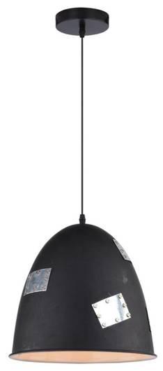 Lampa sufitowa wisząca 1X60W E27 czarny + chrom PATCH 31-43184