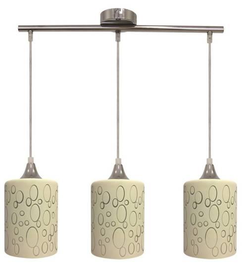 Lampa sufitowa wisząca 3X40W chrom E27 SAND 33-57778