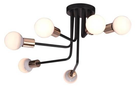 Lampa sufitowa żyrandol stalowy czarno-złoty Spill Candellux 36-56542