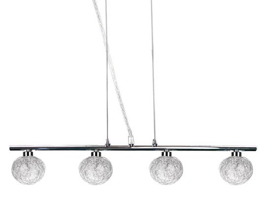 Lampa wisząca chrom szklany klosz w oplocie 4x40W Sphere Candellux 34-14047