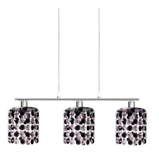 Lampa wisząca chrom z kryształkami czarno-białymi 3x40W Royal Candellux 33-35885