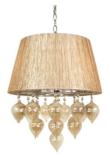 Lampa wisząca na łańcuchu szaro beżowa Elissa Candellux 33-04567
