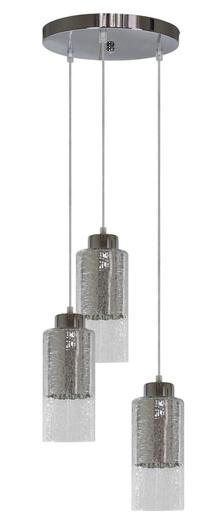 Lampa wisząca sufitowa srebrna szklane klosze 3x60W Libano Candellux 33-51691