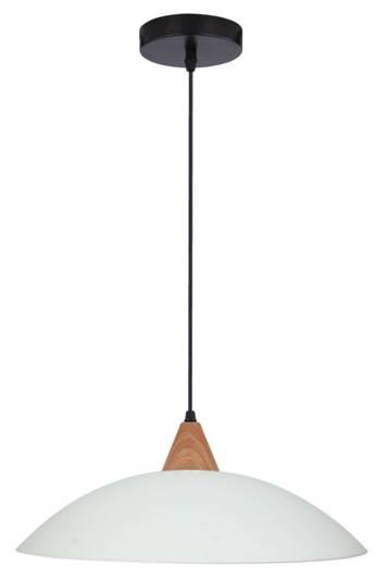 Lampa wisząca szklana biała matowa Otriks 31-63557