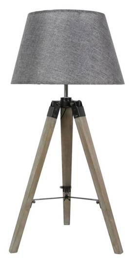 Lampka gabinetowa stołowa szara 60W E27 Lugano 41-31150